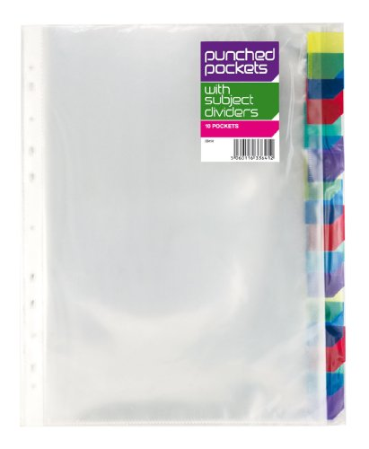 10-x-a4-punched-pockets-colour-subject-divider-tabs