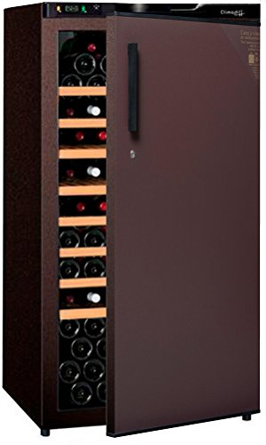 Cave à vin de vieillissement - 1 temp. - 132 bouteilles - Marron - CLIMADIFF - ACI-CLI710TC - Pose libre