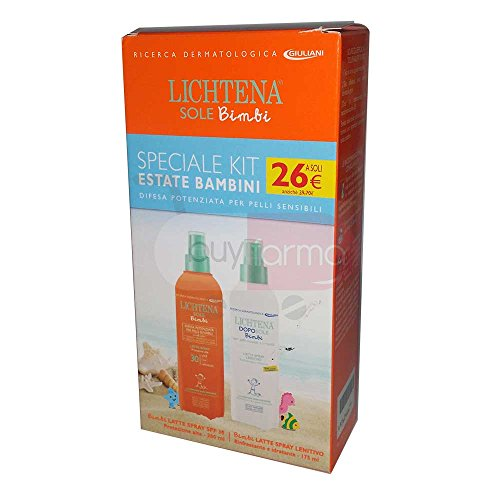 Spf 30 Kinder-spray (Solar Lichtena Kinder – Milch Spray SPF 30 200 ml + AfterSun – Special Kit)