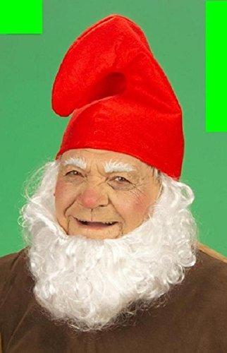 (7 x Zwergenmütze Mütze rot Zwerg Fasching Karneval fürs Kostüm Schlumpf)