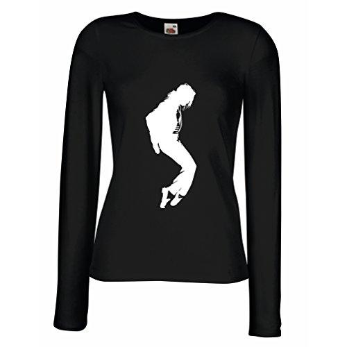 n4108m-weibliche-langen-armeln-t-shirt-i-love-mj-medium-schwarz-weiss