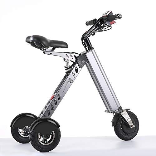 TopMate ES30 Elektroroller I klappbares Mini-Dreirad mit geringem Gewicht von 14KG I Geschwindigkeit 20km/h I Reichweite 35km I geeignet für Reisen und Freizeitaktivitäten