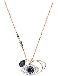 Swarovski Duo Evil Eye Pendant, Blue, Mixed plating