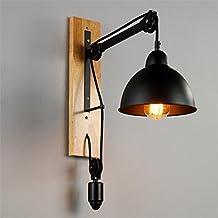 BZJBOY Lámparas de pared Lámpara de pared Industrial Loft Estilo Pulidoras de hierro Lámpara de pared Dormitorio Dormitorio Pasillo Bar Café Restaurante Escalera Iluminación Decoraciones