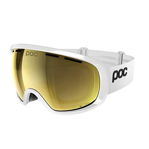 POC Fovea Clarity Ski Brille, Hydrogen White/Spektris Gold, One Size