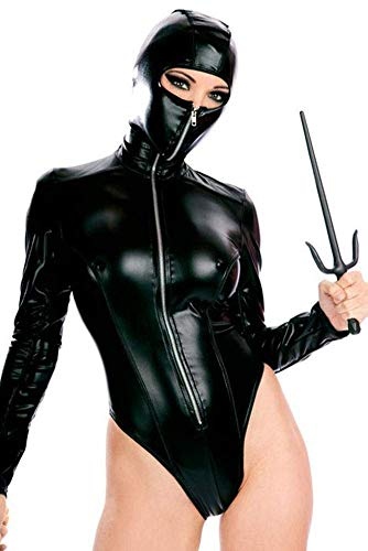 Cosplay Ninja Kostüm - NAUQGNIQ Frau Ninja Sexy Lackleder Kostüm Cosplay Sexy Dessous Masked Woman Uniform