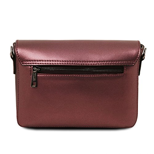 Tuscany Leather TL Bag - Clutch aus Metallic Ruga Leder - TL141649 (Dunkelblau) Bordeaux