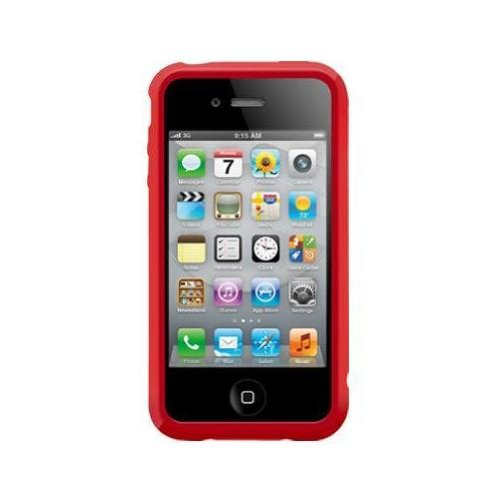 SwitchEasy Trim Hardcover Hülle für Apple iPhone 4S 4 rot red Rot