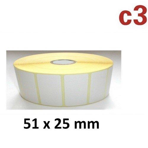 51x25 mm ThermoEtiketten Rolle mit 2.580 Etiketten Zebra ,Citizen,Intermec, TEC (Zebra Büromaterial)