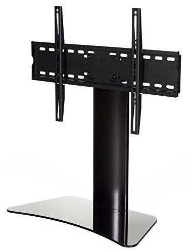 """RICOO TV Standfuß Universal Schwenkbar FS213B Curved LCD LED Fernsehständer mit Kabelkanal Fernsehhalterung Stand Ständer Halterung Rack 30""""/76cm - 55""""/140cm Zoll VESA 600x400 / Glas Schwarz"""