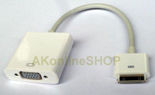 aktrend - Dock Connector auf VGA Adapter MC552ZM/A Video Kabel für Apple iPad 1 2 3 , iPhone 4 , iPhone 4S , iPod Touch 4 , iPad , iPad2 , iPad3 , iPhone 4 4S , iPod Touch4 (Apple-ipad2-ladegerät)