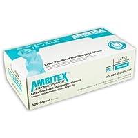 Ambitex Latex Multi-Purpose Gloves Medium (100 by wt.) 1 Box by Tradex preisvergleich bei billige-tabletten.eu