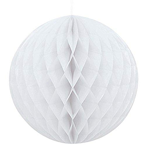 Sky Lanterns Ltd. 9 X Weiß Honeycomb Ball Dekorationen (20cm/8inch) - Ball Dekoration