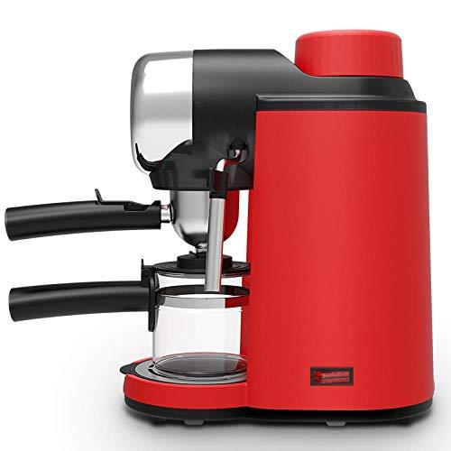 DMWD 240ML Italienischer Espresso Kaffeemaschine Elektrische Kaffeemaschine Matcha Latte Cappuccino Milch Frothers Automatic Milk Schaumstoff, Red 220V,EU -
