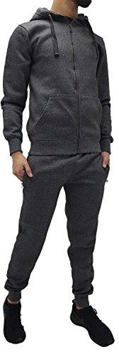 Mens-Original-Plain-Navy-Grey-Tracksuit-Set-Joggers-Pants-Bottoms-Gym-Sports