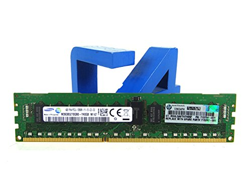 Registered Memory Kit (HP 713981-B21 - 4GB (1x4GB) Single Rank x4 PC3L-12800R (DDR3-1600) Registered CAS-11 Low Voltage Memory Kit)