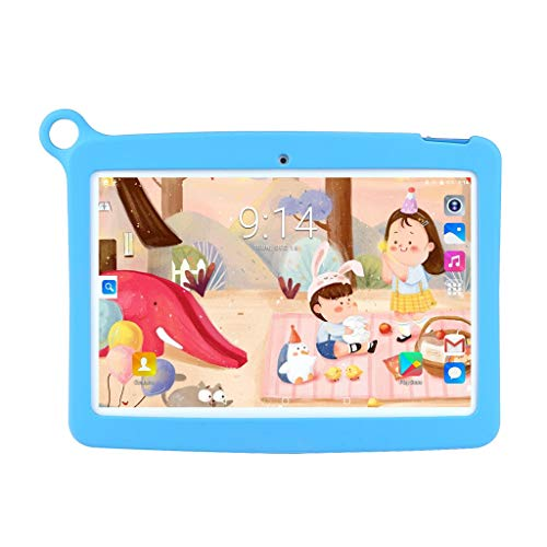 Fcostume Tablet-PC für Kinder 10.1 Zoll Android 7.0 IPS HD Bildschirm 1GB/16 GB Babypad PC mit Bluetooth WiFi Bundle Kids-Proof Case,Quad Core CPU,Dual Kamera,4500mAh Batterie (Blau) Hd Bundle