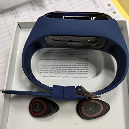 Aktivitätstracker armband Kalorienzähler-Uhr-Farbdisplay Smart Armband Bluetooth Headset 2 in 1 Armband Schlaf Herzfrequenz-Blutdruckmessgerät mit Musikkopfhörern for Frauen Männer Kinder Fitness Trac