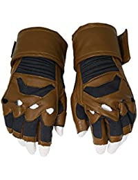 Capitaine Brown Fingerless Gants Hero Refroidir Fantaisie Cosplay pour Adultes Hommes Halloween Costume Accessoires