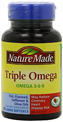 Nature Made Triple Omega 3-6-9, 60 Softgels (Pack Of 3) from Nature Made