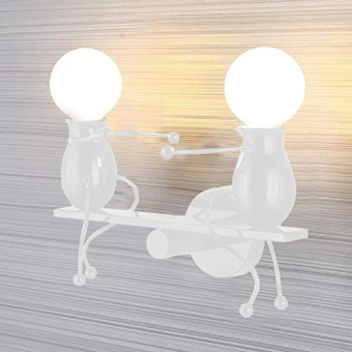 - WATOPI - Lampada da parete moderna, con 2 prese in ferro, per casa, bar, ristoranti, caffetterie, club, decorazione