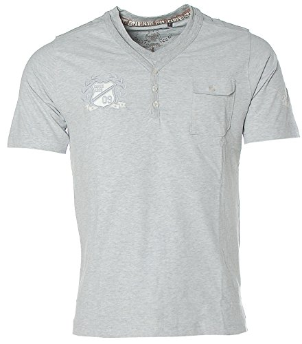 Kitaro Herren T-Shirt -U.K. University- Grau