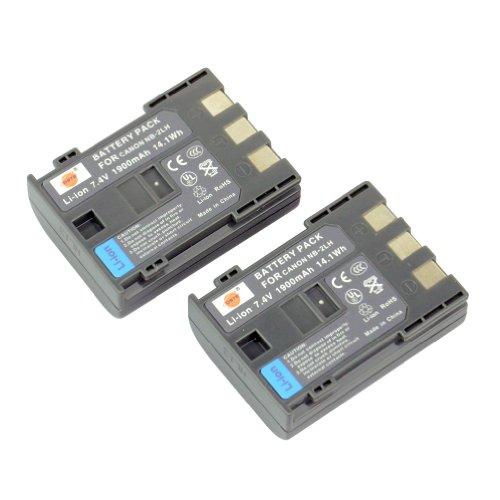 DSTE® 2x NB-2LH Li-ion Batería para Canon NB-2L, NB-2LH, BP-2L5, BP-2LH, Canon Optura 30, 40, 50, 60, 400, 500, PowerShot G7, G9, S30, S40, S45, S50, S60, S70, S80, VIXIA HF R10, HF R100, HF R11, HG10, HV20, HV30, HV40, ZR100, ZR200, ZR300, ZR400, ZR500, ZR600, ZR700, ZR800, ZR830, ZR850, ZR900, ZR930, ZR950, ZR960, DC301, DC310, DC320, DC330, DC410, DC420, Elura 40, 50, 60, 65, 70, 80, 85, 90, EOS 350D, 400D, Digital Rebel XT, XTi, FV500, FVM20, FVM30, FVM100, FVM200, HG10, HV20, HV30