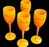 PROMO Champagne Veuve Clicquot Ponsardin: Occhiali Tulipani Arancione Arancione