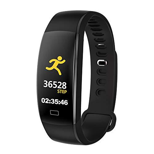 Farbbildschirm Blutdruck-Trainings-Herzfrequenz-Schrittzähler Smart Watch(1*pc,Schwarz) ()
