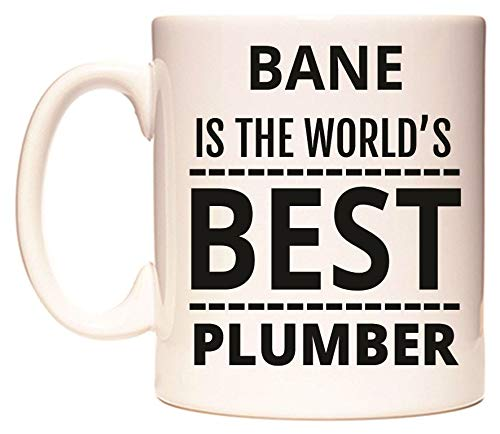 BANE IS THE WORLD'S BEST PLUMBER Taza por WeDoMugs
