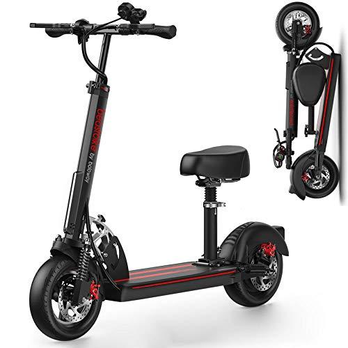 Hold E-Bikes EIN-klick-Klapprad Leichtes, faltbares, kompaktes E-Bike und Aufladen des Telefons, 500 W / 48 V-Schwarz
