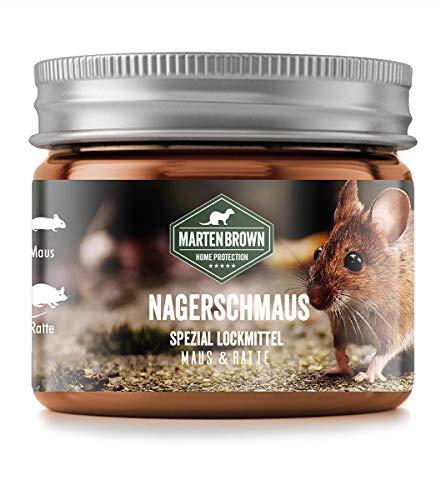 Martenbrown® Lockmittel [200 ml] Mäuselockmittel Rattenlockmittel Mausköder Mäuseköder Mittel gegen Mäuse Köder Mausefalle