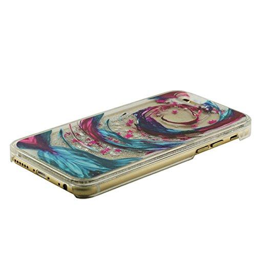 iPhone 6S Plus Coque, London Motif Flowable Cœur Liquide Eau Conception Clair Transparent Rigid Housse Case Pour Apple iPhone 6 Plus / 6S Plus 5.5 inch + Silicone Titulaire color-6