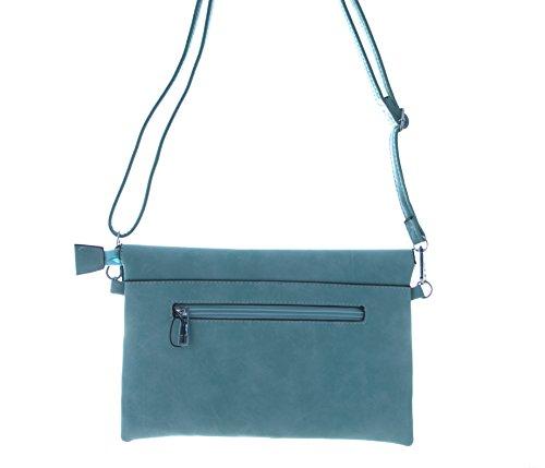 Damen Tasche, diese Clutch Tasche gibt es in Farben Rot, Gelb, Schwarz, Grau, Beige, Blau und Grün Blau