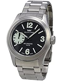 Glycine Incursore Manual Wind Stainless Steel Mens Swiss Watch 3873.19SL MB