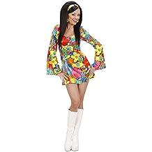 Widman - Disfraz de hippie años 60s para mujer, talla 38 (S/73952)