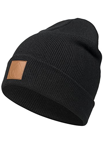 Occulto Leatherpatch Winter Mütze Beanie ()