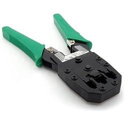 Incutex pince à sertir pour prises réseau RJ45/11, 8P8C, 6P6C, 4P4C1 pince à dénuder pince cosse électrique sertisseur outils sertissage
