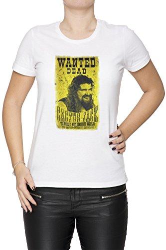 b68caf92bf8f29 Erido Cactus Jack Poster Donna Girocollo T-Shirt Bianco Maniche Corte  Dimensioni XS Women s White