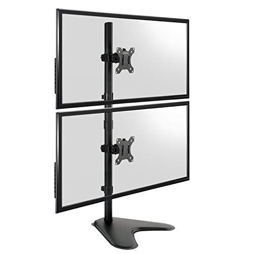 TekBox Vertikale Halterung für 2 Bildschirme mit 13-32 Zoll (33-81 cm)