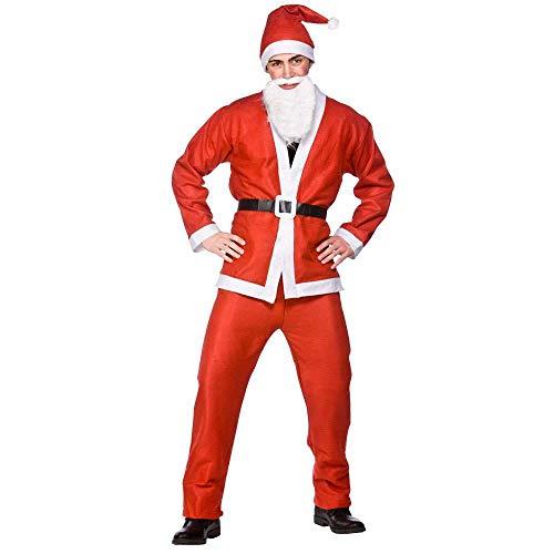 Budget Santa Suit 5pc Adult Costume Plus Size xmas fancy dress