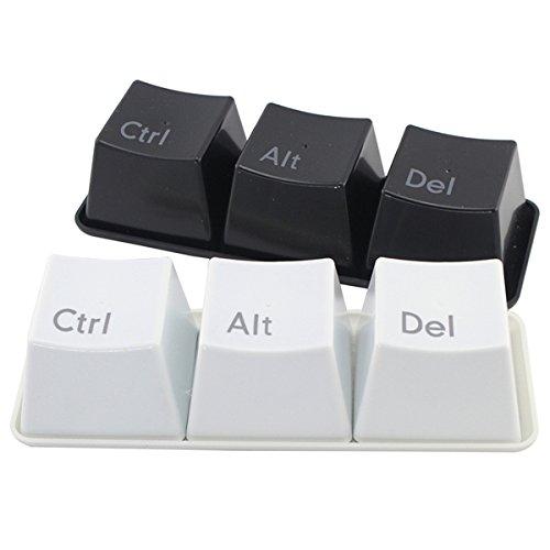Jiedoasi 3 Stücke Kreative Tastatur Tee Tasse Tastatur Ctrl Del Alt Tasse Kaffee Becher (Color : Color White)