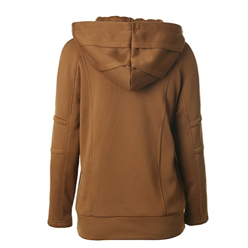 CHENGYANG sweat hoodie femme Sweatshirt à Capuche casual Hauts Blouse Manches Longues Pulls Jumper pullover Café