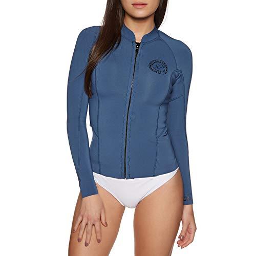 BILLABONG Womens Peeky 1MM Neopren Neoprenanzug Mantel Jacke Mantel Seaside - Easy Stretch Thermofutter Langarm