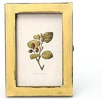WINWINTOM Vintage Decoración de madera de los marcos La Casamento (Amarillo)