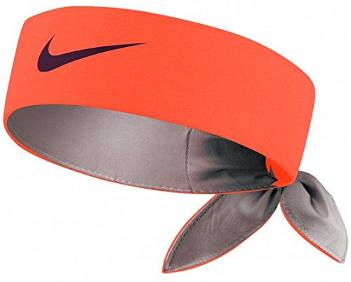 Nike Roger Federer Rafael Nadal Dri-Fit Tie Up Headband Bandana, Orange/Black