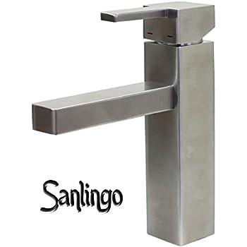 sanlingo design badezimmer waschbecken waschtisch bad armatur aus 100 edelstahl. Black Bedroom Furniture Sets. Home Design Ideas
