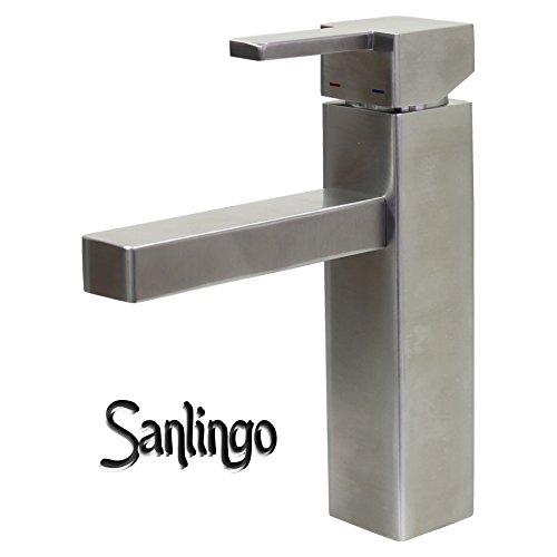 Sanlingo Design Badezimmer Waschbecken Waschtisch Bad Armatur aus 100% Edelstahl