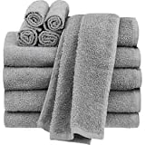 #5: Tex Home 100% Grey Cotton Hand Towel Set of 2
