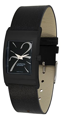 Moog Paris Dome Women's Watch with Black Dial, Black Strap in Jeans - M41661-410